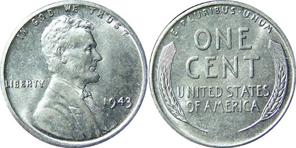 Lincoln Cent - Steel. In 1943