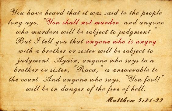 matthew 5 21 30 sermon