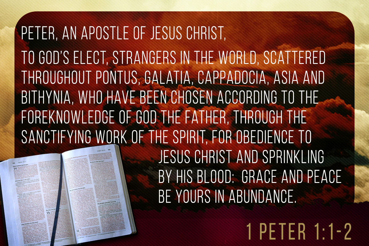 Memorize Scripture  1 Peter 1 1-2