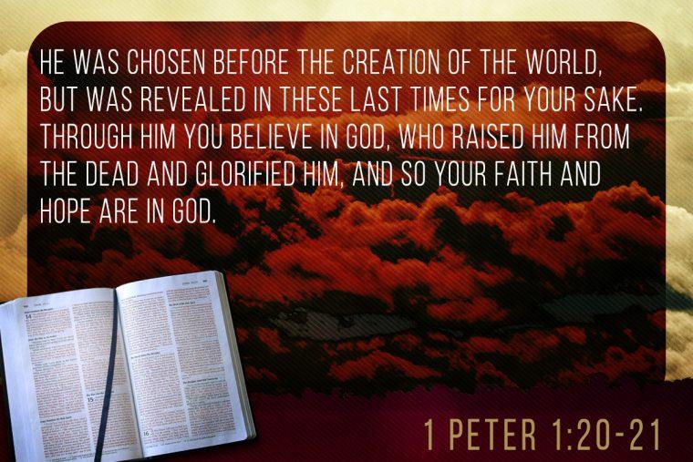 1 Peter 1:20-21