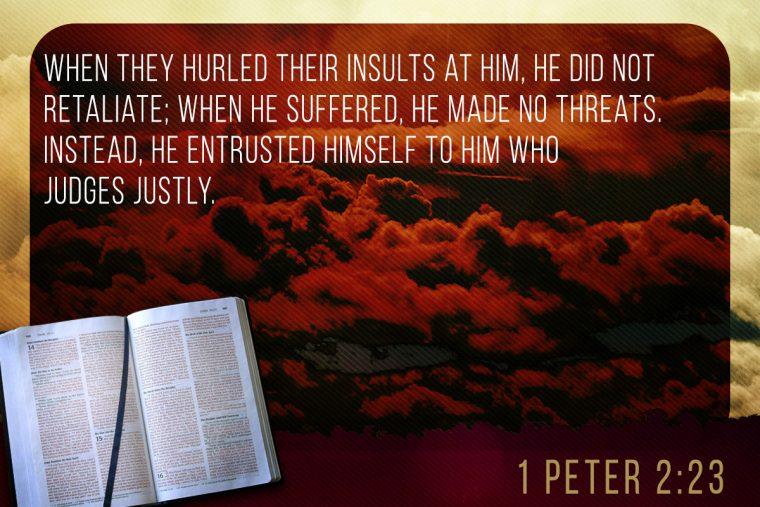 1 Peter 2:23