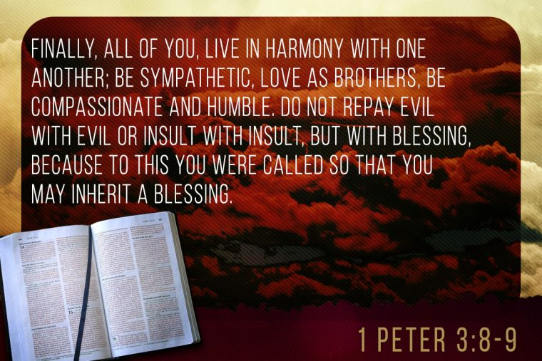 1 Peter 3:8-9