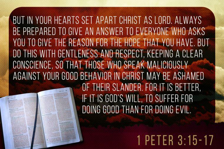 1 Peter 3:15-17