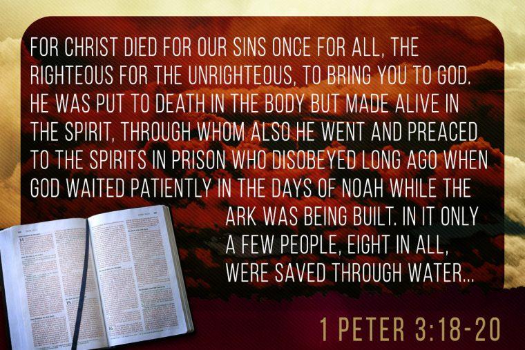 1 Peter 3:18-20