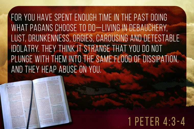 1 Peter 4:3-4