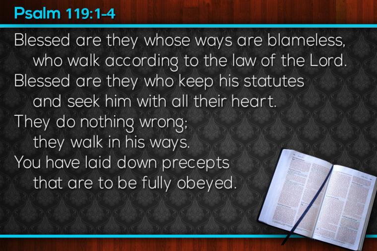 Psalm 119:1-4