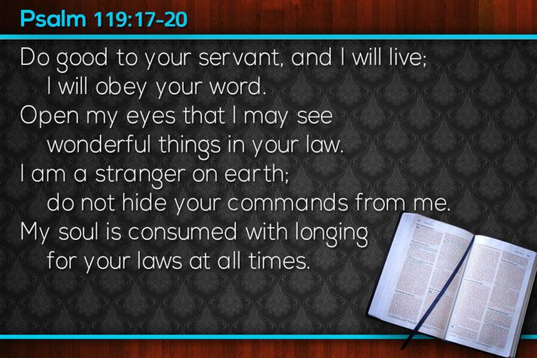 Psalm 119:13-16